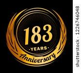 183 years anniversary.... | Shutterstock .eps vector #1226746048