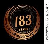 183 years anniversary.... | Shutterstock .eps vector #1226746075