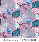 hand drawn doodle pattern... | Shutterstock .eps vector #1226748028