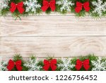 christmas frame made of fir... | Shutterstock . vector #1226756452