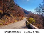 autumn in forest mountains....   Shutterstock . vector #122675788