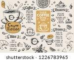 coffee house menu. restaurant... | Shutterstock .eps vector #1226783965