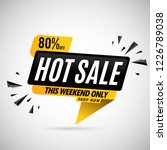 hot sale banner up to 80  off | Shutterstock .eps vector #1226789038