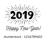 sunbursts 2019. congratulation... | Shutterstock .eps vector #1226789602