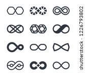 infinity vector symbols and... | Shutterstock .eps vector #1226793802