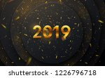happy new 2019 year. holiday... | Shutterstock .eps vector #1226796718