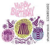 happy birthday greeting card.... | Shutterstock .eps vector #1226801602
