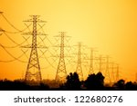 Electricity Pylons And Lines A...