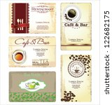business cards for cafe and...   Shutterstock .eps vector #122682175