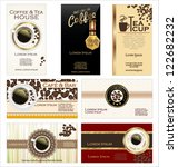 business cards for cafe and... | Shutterstock .eps vector #122682232