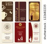 business cards for cafe and...   Shutterstock .eps vector #122682235