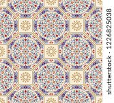 seamless colorful patchwork in... | Shutterstock .eps vector #1226825038