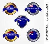 design label of made in... | Shutterstock .eps vector #1226826205