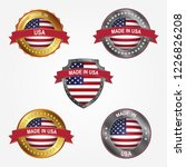 design label of made in united... | Shutterstock .eps vector #1226826208