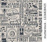 retro styled honey seamless... | Shutterstock .eps vector #1226828425
