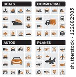 Vector Black Transport Icons...