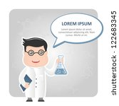 man chemist and a text bubble | Shutterstock .eps vector #122683345