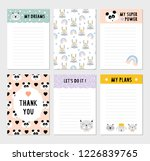 cute weekly planner. funny to... | Shutterstock .eps vector #1226839765