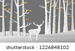 autumn pine in the winter ... | Shutterstock .eps vector #1226848102