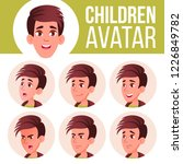 boy avatar set kid vector. high ... | Shutterstock .eps vector #1226849782