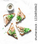 smoked mackerel and cream... | Shutterstock . vector #1226856862