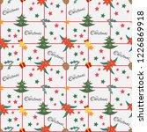 cute christmas element seamless ... | Shutterstock .eps vector #1226869918