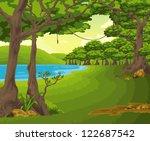 beautiful landscape background... | Shutterstock . vector #122687542