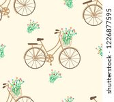 seamless pattern. bicycles ... | Shutterstock .eps vector #1226877595