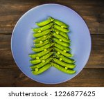 green peas in the form of a... | Shutterstock . vector #1226877625