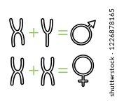 gender chromosomes icon. | Shutterstock .eps vector #1226878165