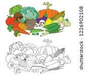 vegetable harvest set cartoon.... | Shutterstock .eps vector #1226902108