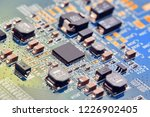 electronic circuit board close... | Shutterstock . vector #1226902405