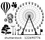 vector black and white... | Shutterstock .eps vector #122690776
