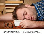 a tired and tortured disheveled ...   Shutterstock . vector #1226918968