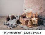 hygge scandinavian style... | Shutterstock . vector #1226919085