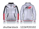 hoodie shirts template.jacket...   Shutterstock .eps vector #1226920102