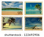 Vintage Postage Stamps With...