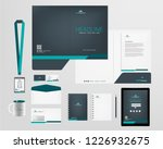 corporate identity template | Shutterstock .eps vector #1226932675