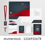 corporate identity template | Shutterstock .eps vector #1226932678