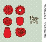 illustration flowers icons ... | Shutterstock .eps vector #122693296