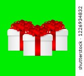 gift in a box with a red bow  | Shutterstock .eps vector #1226934832
