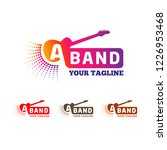vector logo of music band with... | Shutterstock .eps vector #1226953468