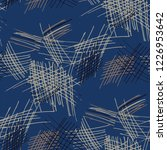 various pen hatches. seamless...   Shutterstock .eps vector #1226953642