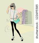 girl | Shutterstock .eps vector #122695585