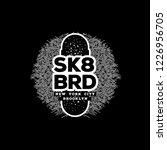 skateboarding t shirt design.... | Shutterstock .eps vector #1226956705