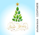 happy new year card design with ... | Shutterstock .eps vector #1226956858