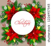 red poinsettia christmas party... | Shutterstock .eps vector #1226957545