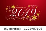 2019 happy new year lettering... | Shutterstock .eps vector #1226957908