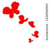 beautiful red butterflies ... | Shutterstock .eps vector #1226960965