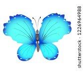 beautiful butterflies  blue... | Shutterstock . vector #1226964988